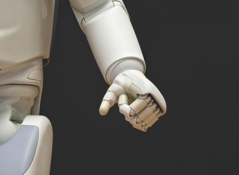 Eine Roboterhand.